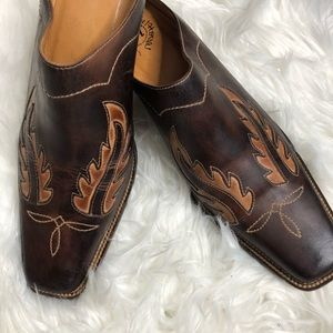 Charlie 1 Horse western leather mules 9 1/2